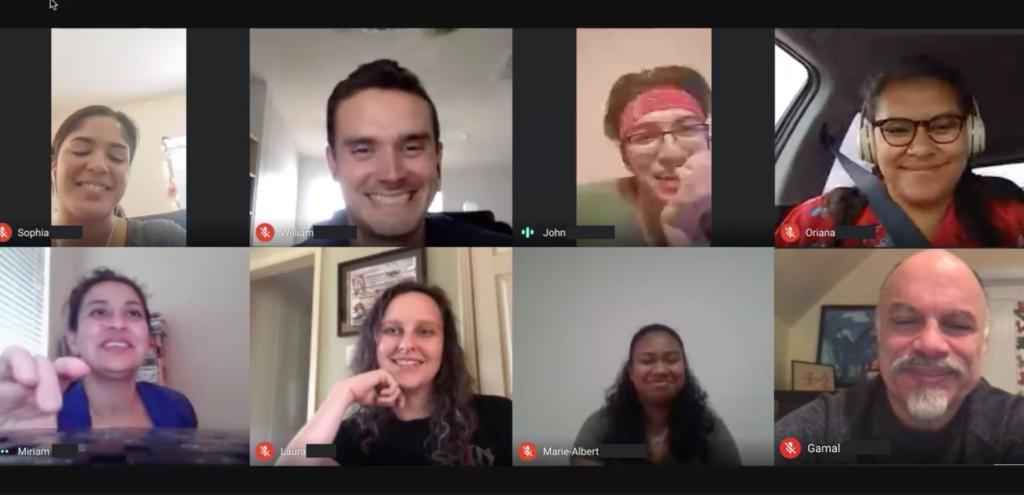 virtual internship meeting with UT SOA